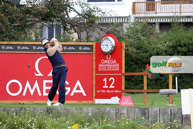 Gonzalo Fdez0Castano (ESP) on the 12th on Day 2 of the Omega European Masters 2012, Golf Club Crans-Sur-Sierre, Crans Montana, Switzerland, 31/8/12...(Photo Jenny Matthews/www.golffile.ie)