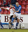 14/01/2006         Copyright Pic: James Stewart.File Name : sct_jspa01_clyde_v_stjohnstone.RODDY HUNTER AND SIMON MENSING CHALLENGE FOR THE BALL....Payments to :.James Stewart Photo Agency 19 Carronlea Drive, Falkirk. FK2 8DN      Vat Reg No. 607 6932 25.Office     : +44 (0)1324 570906     .Mobile   : +44 (0)7721 416997.Fax         : +44 (0)1324 570906.E-mail  :  jim@jspa.co.uk.If you require further information then contact Jim Stewart on any of the numbers above.........