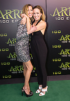 VANCOUVER, BC - OCTOBER 22: Katie Cassidy and Caity Lotz at the 100th episode celebration for tv's Arrow at the Fairmont Pacific Rim Hotel in Vancouver, British Columbia on October 22, 2016. Credit: Michael Sean Lee/MediaPunch