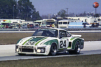 #24 Porsche Carrera RSR 911 of Tom Frank and Bob Bergstrom 15th place finish 1978 24 Hours of Daytona, Daytona International Speedway, Daytona Beach, FL, February 5, 1978.  (Photo by Brian Cleary/www.bcpix.com)