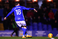 Sam Gallagher of Birmingham scores to make it 3-0 during the Sky Bet Championship match between Birmingham City and Sunderland at St Andrews, Birmingham, England on 30 January 2018. Photo by Bradley Collyer / PRiME Media Images.