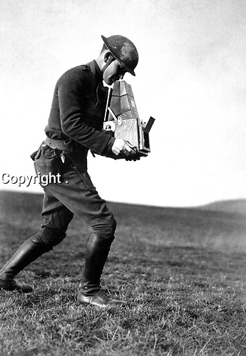 Second Lieut. Paul Weir Cloud, still operator, photographic unit with 89th Division, Near Kyllburg, Germany.  January 16, 1919.  (Army)<br /> NARA FILE #:  111-SC-51107<br /> WAR & CONFLICT BOOK #:  607