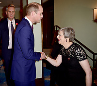 30 October 2017 - Prince William Duke of Cambridge and Theresa May at the Pride Of Britain Awards 2017 held at The Grosvenor House Hotel London. Photo Credit: ALPR/AdMedia