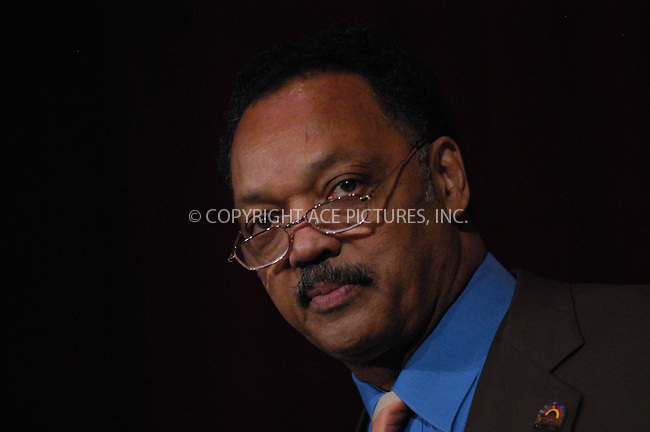 WWW.ACEPIXS.COM . . . . . ....NEW YORK, JANUARY 12, 2005....Reverend Jesse Jackson at the Equity and Parity Luncheon for the 2005 Wall Street Project Conference.....Please byline: ACE006 - ACE PICTURES.. . . . . . ..Ace Pictures, Inc:  ..Alecsey Boldeskul (646) 267-6913 ..Philip Vaughan (646) 769-0430..e-mail: info@acepixs.com..web: http://www.acepixs.com
