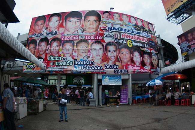 Bangkok, August 30, 2011, Lumpini Muay Thai kick boxing stadium