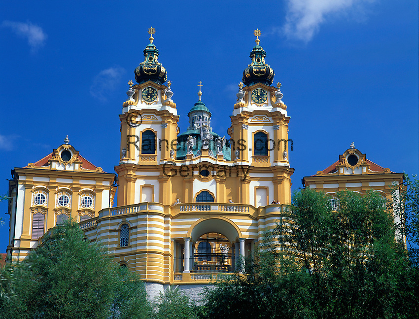 Austria, Lower Austria, Wachau, Melk, Benedictine monastery since 1089, founded by margrave Leopold II.
