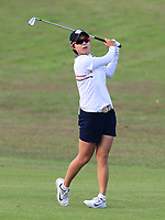 Hyo Joo Kim (KOR) in action on the 1st during Round 3 of the HSBC Womens Champions 2018 at Sentosa Golf Club on the Saturday 3rd March 2018.<br /> Picture:  Thos Caffrey / www.golffile.ie<br /> <br /> All photo usage must carry mandatory copyright credit (&copy; Golffile | Thos Caffrey)