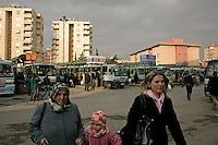 Dolmus station in Pendik, Istanbul, Turkey: women passengers
