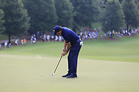 Phil Mickelson (USA) putts on the 15th green during Friday's Round 2 of the 2017 PGA Championship held at Quail Hollow Golf Club, Charlotte, North Carolina, USA. 11th August 2017.<br /> Picture: Eoin Clarke | Golffile<br /> <br /> <br /> All photos usage must carry mandatory copyright credit (&copy; Golffile | Eoin Clarke)