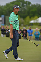Padraig Harrington (IRL) sinks his long birdie putt on 2 during round 3 of the AT&T Byron Nelson, Trinity Forest Golf Club, Dallas, Texas, USA. 5/11/2019.<br /> Picture: Golffile | Ken Murray<br /> <br /> <br /> All photo usage must carry mandatory copyright credit (© Golffile | Ken Murray)
