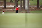 HOWEY IN THE HILLS, FL - MAY 19: Logan Lanier of LaGrange College watches a pitch shot during the Division III Men's Golf Championship held at the Mission Inn Resort and Club on May 19, 2017 in Howey In The Hills, Florida. (Photo by Cy Cyr/NCAA Photos via Getty Images)
