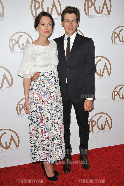 Keira Knightley &amp; husband James Righton at the 26th Annual Producers Guild Awards at the Hyatt Regency Century Plaza Hotel.<br /> January 24, 2015  Los Angeles, CA<br /> Picture: Paul Smith / Featureflash