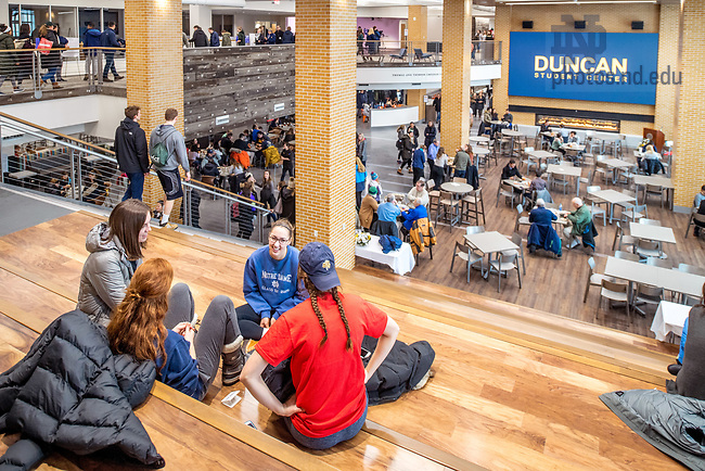 January 15, 2018; Grand Opening activities at the Duncan Student Center. (Photo by Matt Cashore/University of Notre Dame)