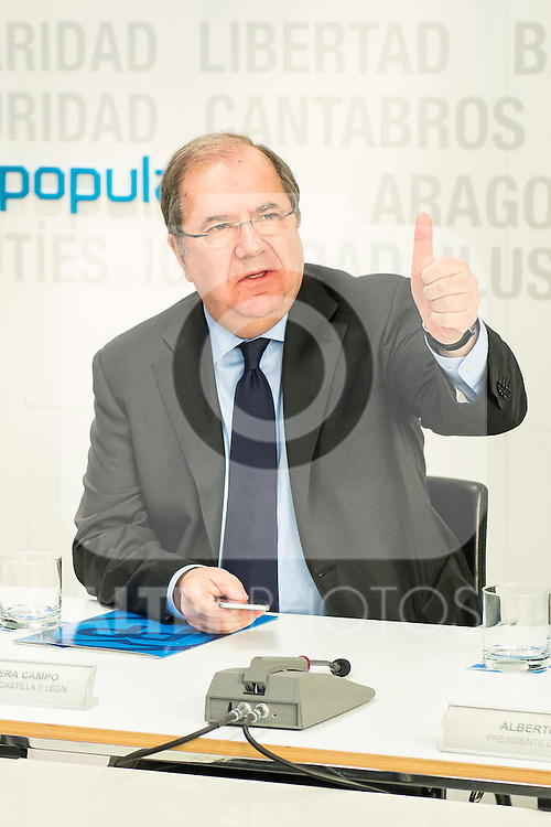 Juan Vicente Herrera during the meeting with the national executive committee of Partido Popular at Genova in Madrid. May 03, 2016. (ALTERPHOTOS/Borja B.Hojas)