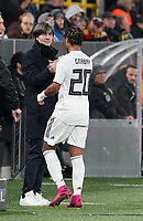 Bundestrainer Joachim Loew (Deutschland Germany) mit Serge Gnabry (Deutschland Germany) - 09.10.2019: Deutschland vs. Argentinien, Signal Iduna Park, Freunschaftsspiel<br /> DISCLAIMER: DFB regulations prohibit any use of photographs as image sequences and/or quasi-video.