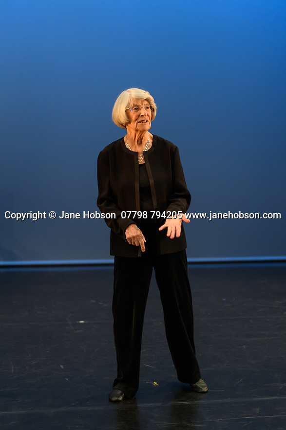 """The Company of Elders, Sadler's Wells over-60s performance company, opens the """"Elixir Extracts Festival"""", in the Lilian Baylis Studio. They perform two pieces: Choreographer, Alesandra Seutin's, """"Dare I Speak"""", and Portuguese choreographer, Clara Andamatt's """"Natural"""". The Company of Elders celebrate their 30th anniversary this year. The piece shown is: """"Natural"""". h © Jane Hobson."""