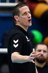 03.12.2017, Halle Berg Fidel, Muenster<br />Volleyball, Bundesliga Frauen, Normalrunde, USC MŸnster / Muenster vs. Rote Raben Vilsbiburg<br /><br />Timothy Lippuner (Trainer / Coach Vilsbiburg)<br /><br />  Foto &copy; nordphoto / Kurth