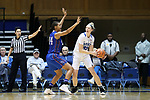 DURHAM, NC - NOVEMBER 26: Duke's Erin Mathias (35) and Presbyterian's Ericka Blackwell-Boyden (44). The Duke University Blue Devils hosted the Presbyterian College Blue Hose on November 26, 2017 at Cameron Indoor Stadium in Durham, NC in a Division I women's college basketball game. Duke won the game 79-45.