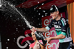 Sam Bennett (IRL) Bora-Hansgrohe wins Stage 7 of the 2018 Giro d'Italia, a flat stage running 159km from Pizzo to Praia a Mare, Italy. 11th May 2018.<br /> Picture: LaPresse/Marco Alpozzi | Cyclefile<br /> <br /> <br /> All photos usage must carry mandatory copyright credit (&copy; Cyclefile | LaPresse/Marco Alpozzi)