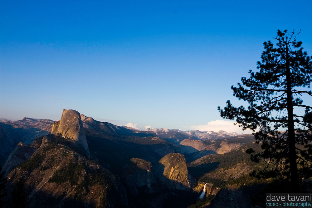 Half Dome rises above Yosemite Valley, as seen from Glacier Point, on July 26, 2006