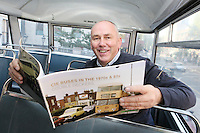 "NO FEE. 20/10/2010. Vintage CIE Double Decker Bus Makes One Last Stop . Dublin based bus enthusiast Ed O'Neil is pictured to mark the launch of two new books on CIE Buses in the 1970's and 1980's, a vintage CIE double decker bus, outside the Mansion House on Dawson Street, Dublin.he coffee table books have been published by PRC Publications, a new transport publications company based in Dublin, and feature a miscellany of photographs of Irish buses and street scenes in both rural and urban locations, taken by Ed O'Neill from mid 1970 to mid 1980. A self-confessed ""bus nut"", O'Neill has compiled the two books which will appeal to both enthusiasts and the general public alike. Urban street scenes, including traffic on Dublin's Grafton Street, will remind readers of a time long gone when traffic regulations were far more relaxed and beautiful buildings stood tall, many of which are sadly no longer in existence. The books, 'CIE Buses in the 1970s and 80s - Double Deckers' and 'CIE Buses in the 1970s and 80s - Single Deckers' are priced at EUR25.00 per book (or both books for EUR45.00) and are available from Mark's Models branches or online at www.prcpublications.com. Picture James Horan/Collins Photos"