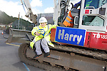 Welsh Water - John knight from Llansawel Primary School in Briton Ferry who won a competition to name one of the machines working outside his school..11.07.12.©Steve Pope.