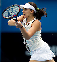 Marion Bartoli (FRA) (11) against  Sandra Zahlavova (CZE) in the Second Round of the Womens Singles. Bartoli beat Zahlavova 6-4 6-4..International Tennis - Australian Open Tennis - Wednesday 20 Jan 2010 - Melbourne Park - Melbourne - Australia ..© Frey - AMN Images, 1st Floor, Barry House, 20-22 Worple Road, London, SW19 4DH.Tel - +44 20 8947 0100.mfrey@advantagemedianet.com