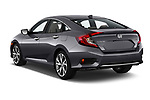 Car pictures of rear three quarter view of 2019 Honda Civic-Sedan Touring 4 Door Sedan Angular Rear