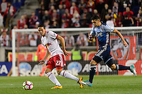 Harrison, NJ - Wednesday Feb. 22, 2017: Sean Davis during a Scotiabank CONCACAF Champions League quarterfinal match between the New York Red Bulls and the Vancouver Whitecaps FC at Red Bull Arena.