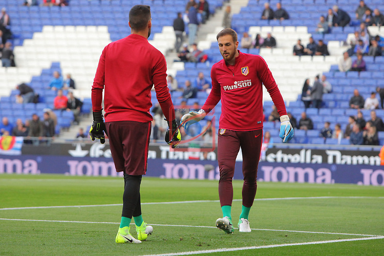 League Santander 2016/2017. Game: 33.<br /> RCD Espanyol vs Atletico de Madrid: 0-1.<br /> Moya &amp; Oblak.
