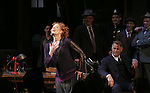 """Sherie Rene Scott during the Broadway Opening Night performance curtain call bows for """"The Front Page""""  at the Broadhurst Theatre on October 20, 2016 in New York City."""