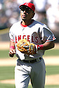 Maicer Izturis, of the Los Angeles Angels, during their game against the Oakland A's on April 16, 2005...A's win 1-0..Rob Holt / SportPics.