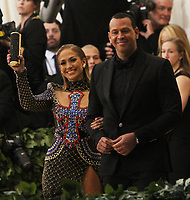 NEW YORK, NY May 07, 2018: Jennifer Lopez, Alex Rodriguez  attend Heavenly Bodies: Fashion &amp; The Catholic Imagination Costume Institute Gala at The Metropolitan Museum of Art in New York. May 07, 2018 <br /> CAP/MPIRW<br /> &copy;RW/MPI/Capital Pictures