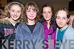 Enjoying the Kilcummin Ceomhaltas party in the Kilcummin Clubhouse on Sunday were Niamh McSweeney, Megan O'Neill, Aishley Kerins and Sorcha Brosnan.