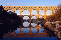 The world-famous antique Roman aquaeduct across the Gard.