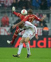 FUSSBALL   1. BUNDESLIGA  SAISON 2012/2013   9. Spieltag FC Bayern Muenchen - Bayer 04 Leverkusen    28.10.2012 Jerome Boateng (FC Bayern Muenchen) auf Stefan Kiessling (Bayer 04 Leverkusen)