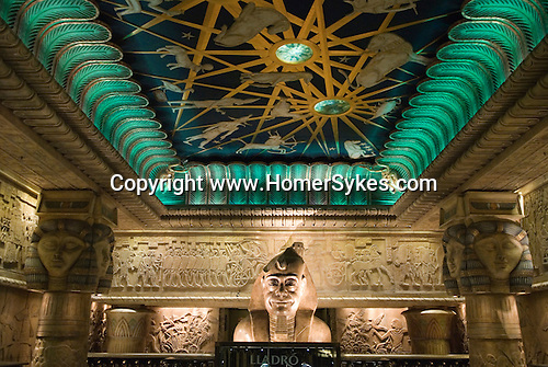Harrods Department Egyptian interior Al Fayed statue shown as a ...