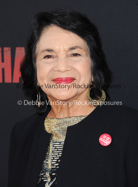 Dolores Huerta attends The  Cesar Chavez Los Angeles Premiere held at TCL Chinese Theatre in Hollywood, California on March 20,2014                                                                               © 2014 Hollywood Press Agency