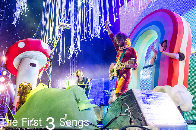 Wayne Coyne of The Flaming Lips performs at the 2014 Bunbury Music Festival in Cincinnati, Ohio