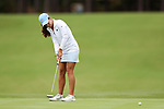 CHAPEL HILL, NC - OCTOBER 14: North Carolina's Mariana Ocano on the 3rd green. The second round of the Ruth's Chris Tar Heel Invitational Women's Golf Tournament was held on October 14, 2017, at the UNC Finley Golf Course in Chapel Hill, NC.