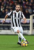 9th February 2018, Stadio Artemio Franchi, Florence, Italy; Serie A football, ACF Fiorentina versus Juventus; Gonzalo Higuain of Juventus brings the ball forward