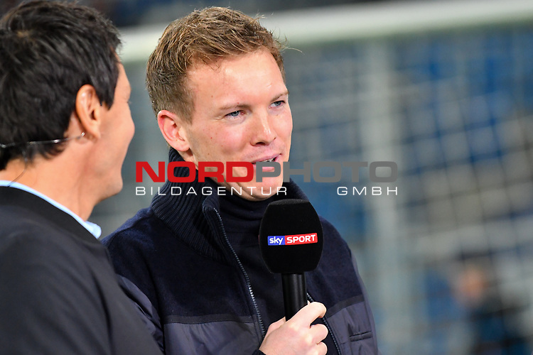 01.12.2018, wirsol Rhein-Neckar-Arena, Sinsheim, GER, 1 FBL, TSG 1899 Hoffenheim vs FC Schalke 04, <br /> <br /> DFL REGULATIONS PROHIBIT ANY USE OF PHOTOGRAPHS AS IMAGE SEQUENCES AND/OR QUASI-VIDEO.<br /> <br /> im Bild: Julian Nagelsmann (Trainer TSG Hoffenheim)<br /> <br /> Foto © nordphoto / Fabisch