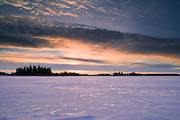 Sunset at Astotin lake at Elk Island National Park