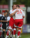 Charlie Griffin of Stevenage Borough   is congratulated by Michael Bostwick after scoring the first goal during the Blue Square Premier match between Stevenage Borough and Hayes and Yeading United at the Lamex Stadium, Broadhall Way, Stevenage on 10th October, 2009..© Kevin Coleman 2009 .....© Kevin Coleman 2009 .....© Kevin Coleman 2009 .