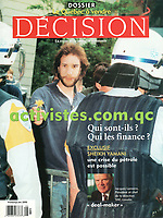 Publication  en couverture de DECISION<br /> <br /> Photo : Pierre Roussel