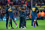 BARCELONA (16/05/2010).- Barcelona players celebrate Spanish League Championship at Camp Nou Stadium. Thierry Henry...Photo. Gregorio / ALFAQUI