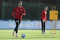 Aaron Ramsey of Wales in action during the Wales Training Session at The Vale Resort in Cardiff, Wales, UK. Monday 12 November 2018