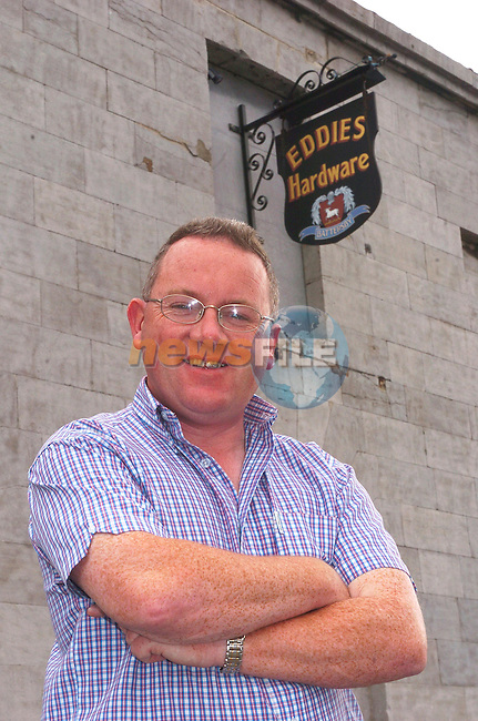 Eddie Battersby from Eddies hardware in Drogheda..Photo Fran Caffrey Newsfile.ie..This Picture has been sent to you by Newsfile Ltd..The Studio,.Millmount Abbey,.Drogheda,.Co. Meath,.Ireland..Tel: +353(0)41-9871240.Fax: +353(0)41-9871260.ISDN: +353(0)41-9871010.www.newsfile.ie..general email: pictures@newsfile.ie