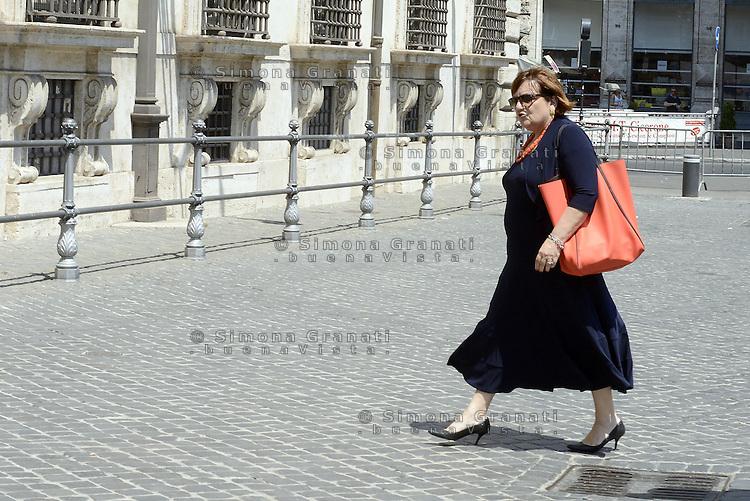 Roma, 20 Luglio 2015<br /> Rossella Orlandi, direttrice della Agenzia delle Entrate, entra a Palazzo Chigi.