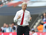 Arsene Wenger manager of Arsenal celebrates the opening goal during the Emirates FA Cup Final match at Wembley Stadium, London. Picture date: May 27th, 2017.Picture credit should read: David Klein/Sportimage